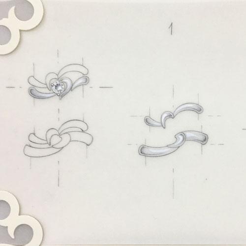 ブライダルリングデザイン画