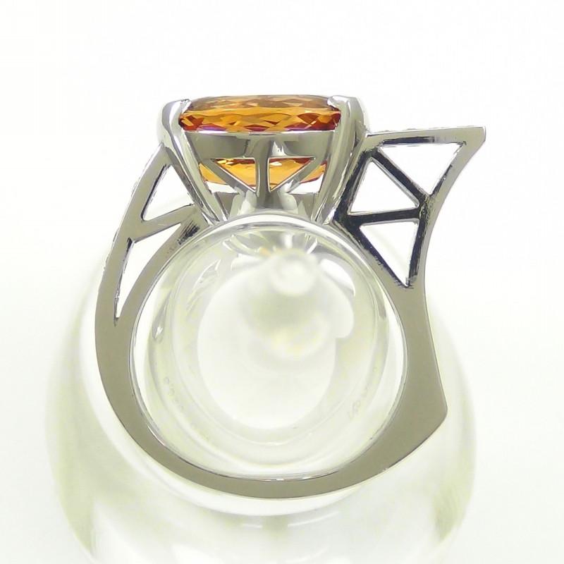 インペリアルトパーズダイヤモンドリング