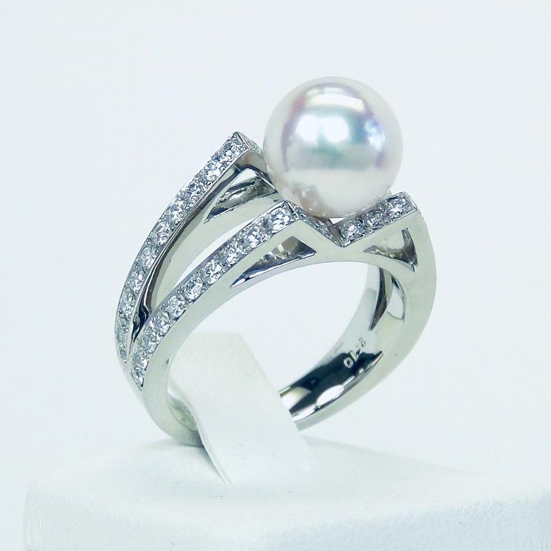 パールダイヤモンドリング