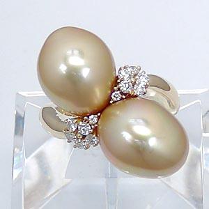 南洋ゴールデンパールダイヤモンドリング