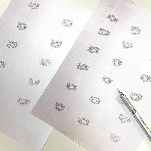 ダイヤモンドリングラフデザイン