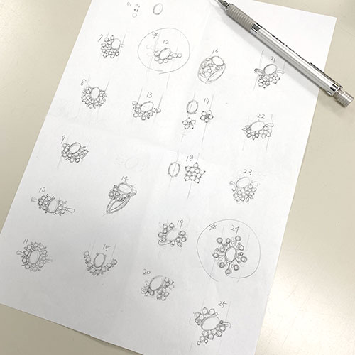 ルビーリングラフデザイン