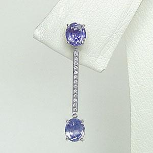 サファイア ダイヤモンド イヤリング