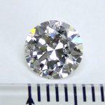 ラウンドカットダイヤモンド1.002ct 6.55㎜×6.56㎜×3.88㎜ F SI-2 EXCELLENT